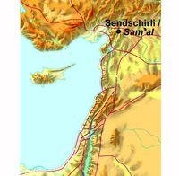 Abb. 1 Karte zur Lage von Sendschirli Höyük in der heutigen Türkei.