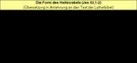 Tabelle 2: Die Form des Heilsorakels (Jes 43,1-2).