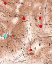 Aus: C. Schick, Artuf und seine Umgebung, ZDPV 10 (1887), 131-156