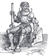 Abb. 1 Josua als geharnischter Ritter (Werkstatt Lukas Cranachs; 16. Jh.).