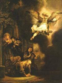 Abb. 3 Rafaels Abschied (Rembrandt; 17. Jh.).