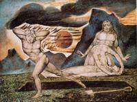 Abb. 4 Adam und Eva finden den Leichnam Abels (William Blake, ca. 1825).
