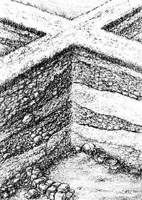 Aus: Vieweger, 2006, 164 Abb. 127; Zeichnung: Ernst Brückelmann; © BAI