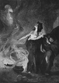 Abb. 9 Kunz Meyer-Waldecks Darstellung der Frau von En-Dor als Hexe (1902).