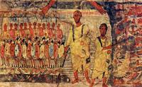 Abb. 6 Gottes Hand (Wandfresko einer Synagoge in Dura-Europos; ca. 250 n. Chr.).