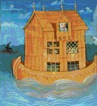 Abb. 1 Die Arche Noah (Miniatur der Wiener Weltchronik-Handschrift; um 1470).