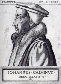 Abb. 1 Johannes Calvin (Kupferstich von René Boyvon, 1562).