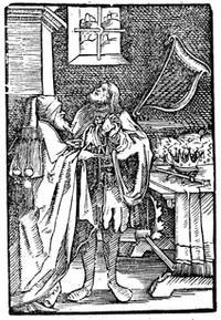 """Abb. 3 Nathan und David (Unbekannter Meister; in: Martin Luthers Schrift """"Die siben Buosz Psalmen, mit ainer kurtzen Auslegung"""", Augsburg 1525)."""