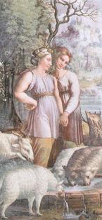 Abb. 2 Rahel und Lea (Raphael; 16. Jh.).