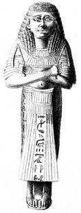Aus: C. Leemans, Monuments égyptiens du Musée d'Antiquités des Pays-Bas à Leide. D. Statues, figurines et statuettes représentant des hommes et des femmes, Leiden 1846-1847, Taf. 16