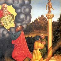 Abb. 3 Das 1. Gebot (Gemälde von Lucas Cranach; Detail von Abb. 2).