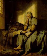 Abb. 2 Paulus im Gefängnis; Gemälde, Niederlande, Rembrandt van Rjn (1627), Staatsgalerie Stuttgart