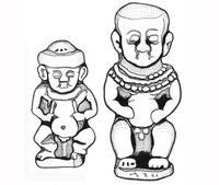 Abb. 10 Patäke aus *Tell el Fār'a* (Süd) und Megiddo (Eisenzeit IIA).