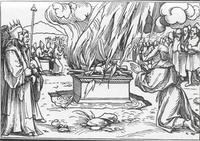 Abb. 3 Elia zeigt, dass nur JHWH wahrer Gott ist (1Kön 18; Holbein; 16. Jh.).