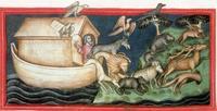 Abb. 5 Verlassen der Arche (deutsche Handschrift; 14. Jh.).