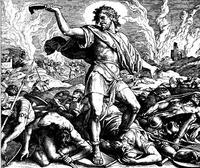 Abb. 2 Samson erschlägt die Philister (Julius Schnorr von Carolsfeld; 19. Jh.).