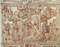 Abb. 8 Isaak trägt sein Brennholz, Christus trägt sein Kreuz.