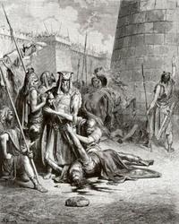 Abb. 2 Abimelechs Tod (Gustave Doré; 1866).