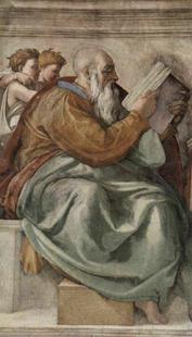 Abb. 1 Zefanja (Michelangelo, Sixtinische Kapelle; um 1510).