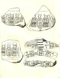 Aus: Naville, The Cemeteries of Abydos I, London 1914, Tf. X