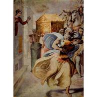Abb. 4 David tanzt vor der Lade (2Sam 6) – Psalmen führen den Betenden nach Jerusalem (Francesco Salviati; 16. Jh.).