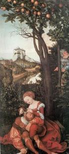 Abb. 3 Simson und Delila (Lucas Cranach d. Ä.; 1472-1553)