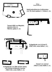 Zeichnung: Klaus Koenen, nach M.J. Adams / I. Finkelstein / D. Ussishkin, The Great Temple of Early Bronze I Megiddo, AJA 118,2 (2014), 285-305, Abb. 9