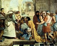 Abb. 1 Josef, Benjamin und die anderen Brüder (Peter von Cornelius; 1816).