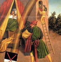 Abb. 8 Das 6. Gebot (Gemälde von Lucas Cranach; Detail von Abb. 2).