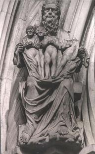 Abb. 7 Menschen in Abrahams Schoß (Bamberger Dom; um 1230).