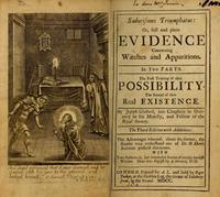 Abb. 5  Eine Darstellung zu 1Sam 28 als Titelbild von Joseph Glanvills Saducismus triumphatus (1700). Der Heiligenschein um Samuels Kopf drückt aus, dass Samuel tatsächlich erschienen ist.