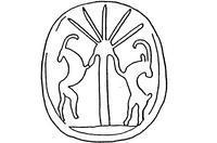 Aus: O. Keel / Chr. Uehlinger, Götter, Göttinnen und Gottessymbole (QD 134), Freiburg, 5. Aufl. 2001, Abb. 222b; © Stiftung BIBEL+ORIENT, Freiburg / Schweiz