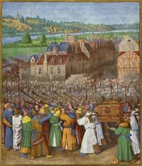 Abb. 2 Die Eroberung Jerichos (Jean Fouquet, 1452-1460).
