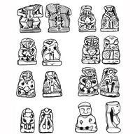 Aus: C. Herrmann, Ägyptische Amulette aus Palästina / Israel (OBO 138), Freiburg(Schweiz) / Göttingen 1994, KatNr. 642-644; © Christian Herrmann