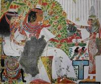 Aus: A.H. Gardiner / N.M. Davies, La peinture égyptienne ancienne (Art et archéologie), Paris III, 1953, o.S.