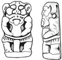 Aus: C. Herrmann, Ägyptische Amulette aus Palästina / Israel (OBO 138), Freiburg (Schweiz) / Göttingen 1994, 342 Abb. 375; © Christian Herrmann