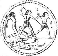 Aus: G. Hölbl, Beziehungen der ägyptischen Kultur zu Altitalien, EPRO 62 (1979), Bd. 1, 295 Abb. 3