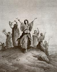Abb. 10 Jeftah und ihre Freundinnen (Gustave Doré, 1865).