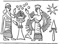 Aus: O. Keel / Chr. Uehlinger, Götter, Göttinnen und Gottessymbole (QD 134), Freiburg 5. Aufl. 2001, Abb. 287; © Stiftung BIBEL+ORIENT, Freiburg / Schweiz