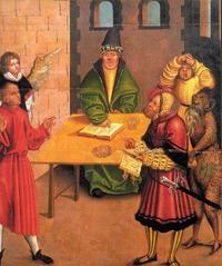 Abb. 10 Das 8. Gebot (Gemälde von Lucas Cranach; Detail von Abb. 2).