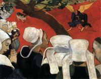 Abb. 5 Jakob ringt mit dem Engel (Paul Gauguin; 1888).