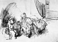 Abb. 4 Nathan ermahnt David (Rembrandt; ca. 1655).