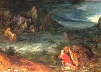 Abb. 3 Der Fisch spuckt Jona an Land (Jan Bruegel d. Ä; ca. 1600).