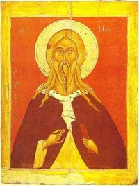 Abb. 1 Elia mit Schriftrolle (Ikone; 15. Jh.).