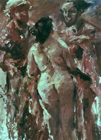 Abb. 4 Die Richter bedrängen Susanna (Lovis Corinth; 1923).