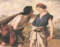Abb. 1 Jakob und Rachel (William Dyce; 1853).