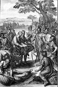 Abb. 2 Die List der Gibeoniten (Abraham de Blois, 1728).