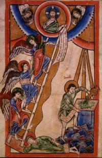 Abb. 4 Jakobs Traum (Mosaner Psalterfragment; 12. Jh.).
