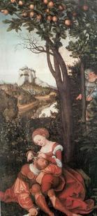 Abb. 7 Delila schneidet Simsons Haar (Lucas Cranach d. Ä.; 1472-1553).