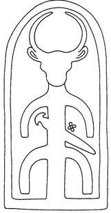 Aus: O. Keel / C. Uehlinger, Götter, Göttinnen und Gottessymbole (QD 134), Freiburg u.a. 5. Aufl. 2001, 394; © Stiftung BIBEL+ORIENT, Freiburg / Schweiz